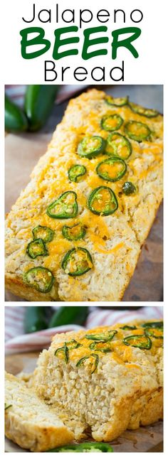 Jalapeno Beer Bread - super easy and goes great with a bowl of chili.