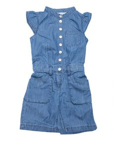 Take a look at this Classic Wash Sanilla Romper - Toddler & Girls by MINI A TURE on #zulily today!