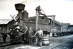 Nádraží z Vilémova (Willomitz) s lokomotivou 422.029 - kolem roku 1910