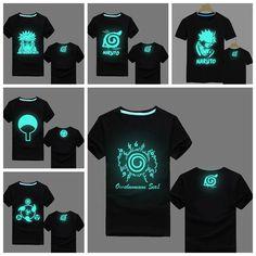 Naruto Uzumaki Fluorescent Glow In The Dark T-Shirts