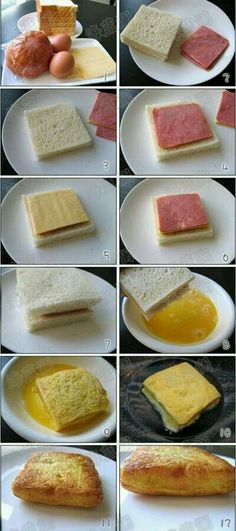 Jubii Mail :: Love food and drink? Here are popular Pins in food and drink this… Brunch Recipes, Breakfast Recipes, Breakfast Ham, Fast Breakfast Ideas, Breakfast Pictures, Breakfast Sandwiches, Brunch Ideas, Tasty, Yummy Food