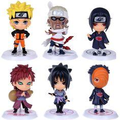 Naruto Action Figures - 6 Pcs/Set