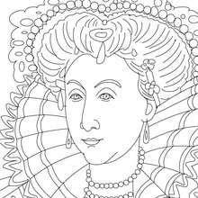 QUEEN ELIZABETH I Coloring Page