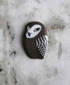 Flat Beach Slate Owl by LillaJizo on Etsy, $33.00