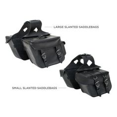 (Large) CUSTOM BILT - Slanted Saddlebags - Saddlebags - Luggage - Accessories - CycleGear - Cycle Gear