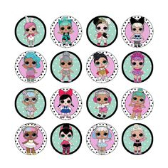 6.5AUD - 16X Edible Lol Dolls Series 2 Cupcake Toppers Birthday Wafer Paper 4Cm (Uncut) #ebay #Home & Garden