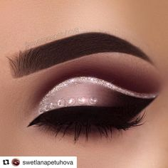 "This is beautiful #goals #makeupgoals @swetlanapetuhova with @repostapp This is like the prettiest make up I've ever done! What do you think? I had so much fun creating this! Brows: @anastasiabeverlyhills Waterproof Creme Color in ""Sable"" Eyeshadow: @hudabeauty Rose Gold Palette ""Bossy"" and ""Coco"" in my crease and ""Shy"" ""Coco"" and ""Black Truffle"" on my eyelid Glitter: @_glittereyes_ Liner: @tartecosmetics clay paint liner Lashes: @lashdepartment"