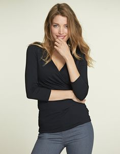 Emily Top in Black by Pepperberry Tops