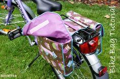 double bike bag sewing tutorial