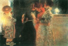 Gustav Klimt, Schubert au piano II, 1899.