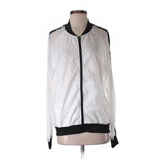 Pre-owned Fabletics Windbreaker Size 11: White Women's Jackets &... ($21) ❤ liked on Polyvore featuring white