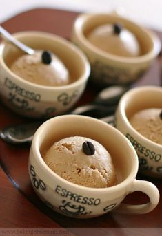 Espresso Ice Cream~ of course we use our Silver Bullet Espresso~ so yummy