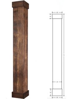 Square, Rough Sawn Fiberglass Column that looks just like a cedar timber beam. Being made of fibreglass, these columns are strong, resist insects, rotting and they are maintenance free. Wood Columns Porch, Porch Beams, House Columns, Porch Pillars, Brick Columns, Porch Makeover, Exterior Makeover, Fiberglass Columns, Interior Columns