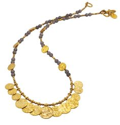 'Nailah' Gemstone Coin Necklace | Discover CLEOPATRA Jewellery https://azuni.co.uk/discover-azuni/classic/cleo