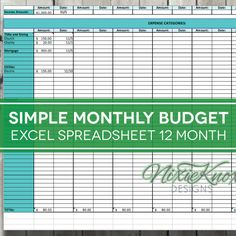 This editable and printable weekly chore chart is the for Zero balance budget template
