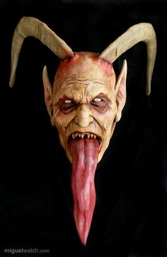 I tracked down the person who I think did most of the masks from that Krampus Parade video from a previous post. Halloween Run, Halloween Masks, Vintage Halloween, Krampus Mask, Creepy Skin, Gothic Tattoo, Angels And Demons, Dark Art, Satan