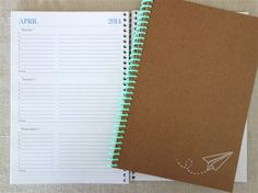2013/2014 Weekly & Monthly Academic Planner (Paper Airplane) via Etsy