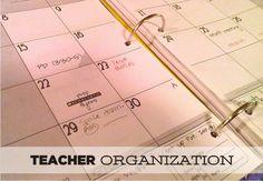 Teacher Organization - KindergartenWorks awesome articles on organization, testing, teacher binders, etc