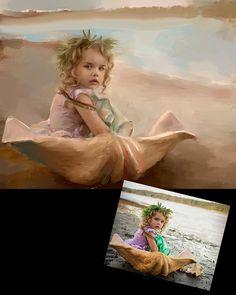 Custom Portrait Painting from Photo by KarenSperling on Etsy, $1300.00