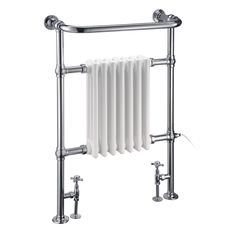 Trafalgar radiator with angled valves - Burlington Bathrooms - £499