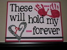Keepsake for MOMMY and DADDY for Valentines Day. Turned out great once I was able to talk our 2 year old Grandson into having his hands painted!! You can't rush a toddler to do anything he doesn't want to do! Patients wins the day! WHEW!!