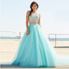 Two Piece Prom Dresses Aline Sparkly Prom Dress Sexy Evening Dress, Shop plus-sized prom dresses for curvy figures and plus-size party dresses. Ball gowns for prom in plus sizes and short plus-sized prom dresses for 2 Piece Prom Dress, Long Gown Dress, Sexy Evening Dress, Evening Dresses, Dress Skirt, Cute Prom Dresses, Prom Dresses 2016, Pretty Dresses, Sexy Dresses