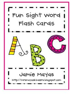 Colorful sight word packet