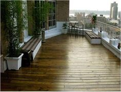 Manhattan penthouse roof-top deck