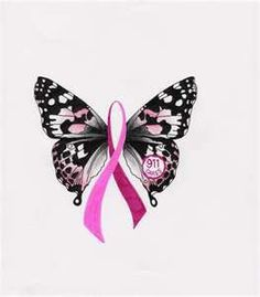 Breast cancer butterfly tattoos