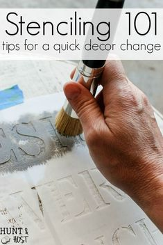 Adding Farmhouse Touches Stenciling tips and tricks for successful stenciling. Stencils are a great way to add farmhouses touches.Stenciling tips and tricks for successful stenciling. Stencils are a great way to add farmhouses touches. Stencil Decor, Stencil Wood, Stencil Painting, Painting Tips, Painting On Wood, Sign Painting, Stencil On Fabric, Deer Stencil, Stencils For Wood Signs
