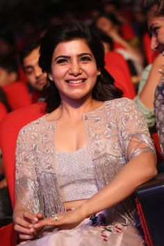 Samantha Images, Samantha Ruth, Cute Celebrities, Celebs, Beautiful Smile, Indian Girls, Indian Actresses, White Dress, Bridesmaid Dresses