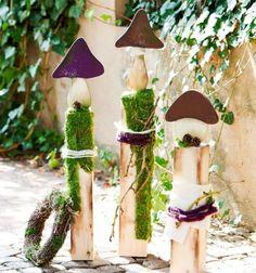 Schöne Gartendeko kann man mit altem Holz bestimmt selber machen