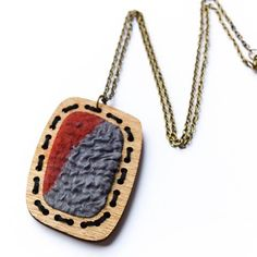 Textile pendant necklace