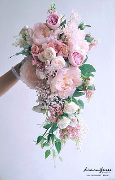 Bridal bouquet in the prettiest of pink #pinkbridalbouquet #weddingbouquet