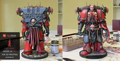 How Do You Paint Your Chaos Space Marine 3D Model? - Press Release by Gambody - 3D Printing Blog