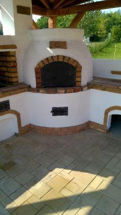 Kerti konyha - Veresegyház Outdoor Kitchen Plans, Outdoor Oven, Outdoor Kitchen Design, Rustic Kitchen, Outdoor Fireplace Designs, Outdoor Lighting, Outdoor Decor, Backyard Projects, Rustic Wood