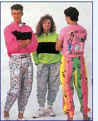 These are the fashion trends brought about in the 1980s. These include, shoulder pads, leg warmers, parachute pants and many other outrageous clothing styles.