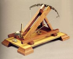 A catapult which works like a ballista.