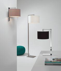Rodzina opraw Ravello brytyjskiego producenta Astro Lighting. Lampy podłogowe, biurkowe i kinkiety. Całe pomieszczenie w spójnej stylistyce!