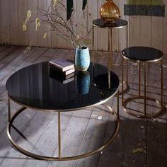 Glass Circular Coffee Table - coffee tables