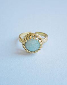Priya Amazonite Ring — Eclectic Eccentricity Vintage Jewellery
