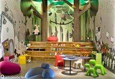 decoração brinquedoteca floresta - Pesquisa Google