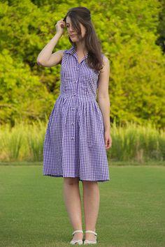 La Mia Boutique 03/2014 gingham dress