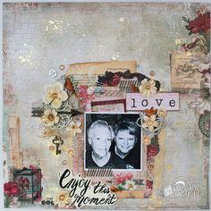 Mother Daughter Layout - Blue Fern Studios Love Story Collection.   http://psychomomscrapbooks.blogspot.com/2016/01/january-live-layout-tutorial-recap.html