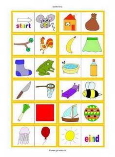 Dit werkblad en nog veel meer in de categorie taal - rijmspelletjes kun je downloaden op de website van Juf Milou.