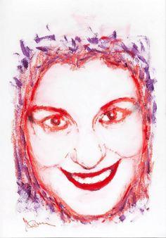 Titolo: Marghe Tecnica: Rossetti e Mascara Tempo d'esecuzione: 22 minuti #portrait #art