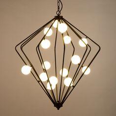 Cheap Moderne luci a sospensione g4 illuminazione gabbia loft industriale…