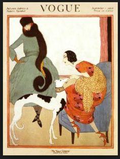 Vogue Art Deco greyhound