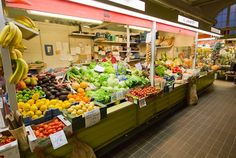 Hakaniemen Kauppahalli  Finland has daily fresh food markets similar to farmer's markets - open always