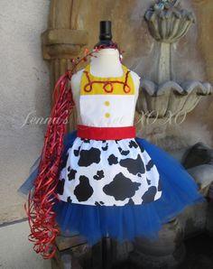 Jessie Tutu / Jessie Apron / Jessie Dress inspired Child Toddler Infant with Blue Tutu...Toy Story